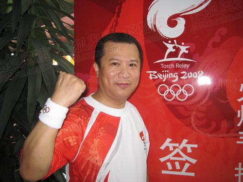 焦裕昌为中国加油,为奥运加油