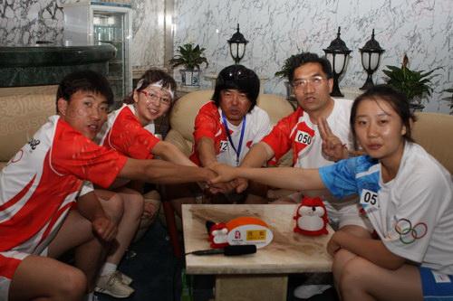 """搜狐""""奥运火炬手访谈间""""搬到了中国乳都呼和浩特"""