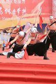 组图:火炬传递哈尔滨站 结束仪式精彩表演