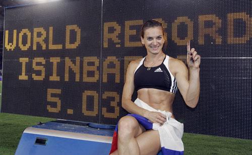 伊辛巴耶娃飞跃5米03 撑杆跳女皇第22次破纪录