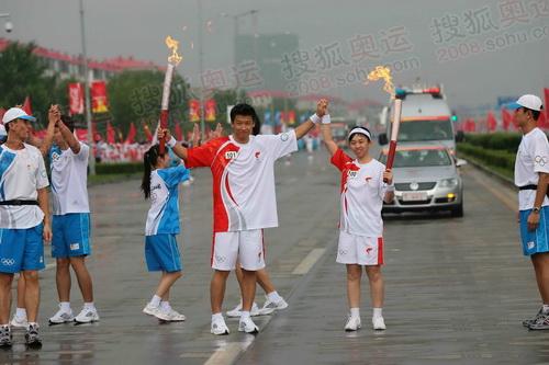 大庆100号联想火炬手王秀杰