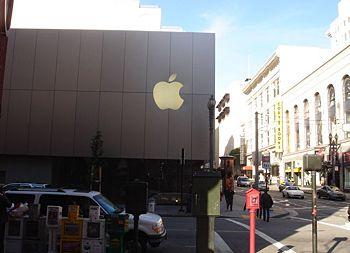 位于旧金山的 One Stockton Street 的苹果直营店