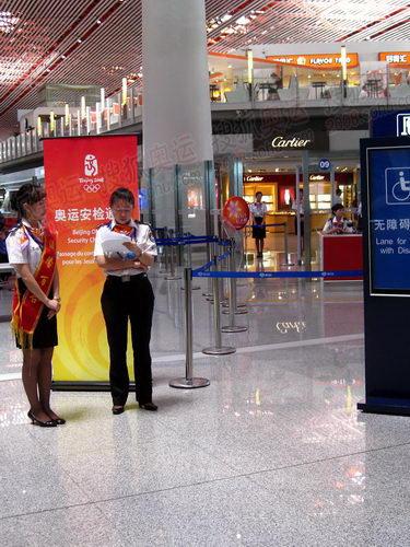 首都机场T3航站楼奥运安检通道