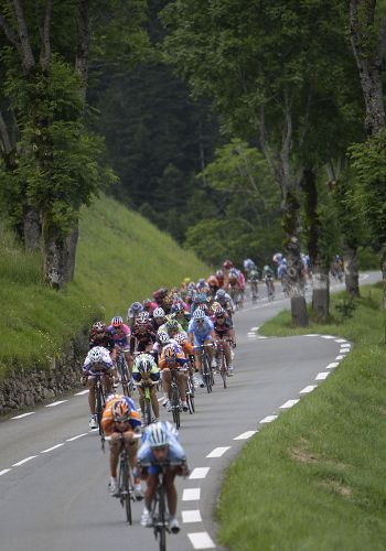 图文:2008环法大赛第九赛段 山路虽弯但直行