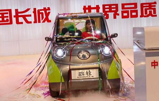 长城一举推出3款新能源车.其中,长城欧拉两人座纯电动新能源高清图片