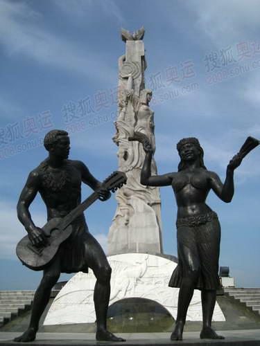 长春世界雕塑公园内的雕塑