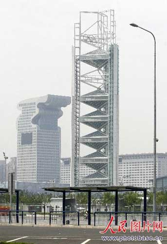 奥运电视转播塔。