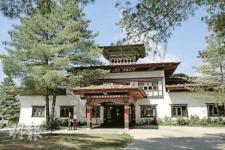 不丹Uma Paro酒店采用传统建筑风格,很有特色