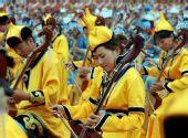 图文:2008把马头琴齐奏迎圣火 演员们现场演奏