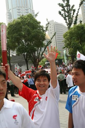 梦想 奥运 红双喜/红双喜执行总经理成为火炬手 传递2008奥运梦想