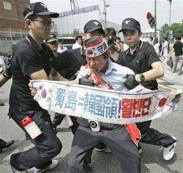 韩国民众抗议