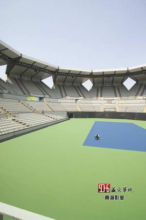 图文:解晓东解读网球场 网球场一角