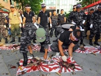 """抗议分子屠杀日本""""国鸟"""""""