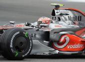 图文:F1德国站第二次练习 赛车上的中文广告