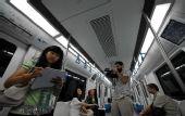 图:记者抢先体验北京地铁奥运支线