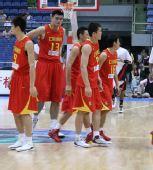 图文:男篮vs安哥拉赛前 姚明热身运动
