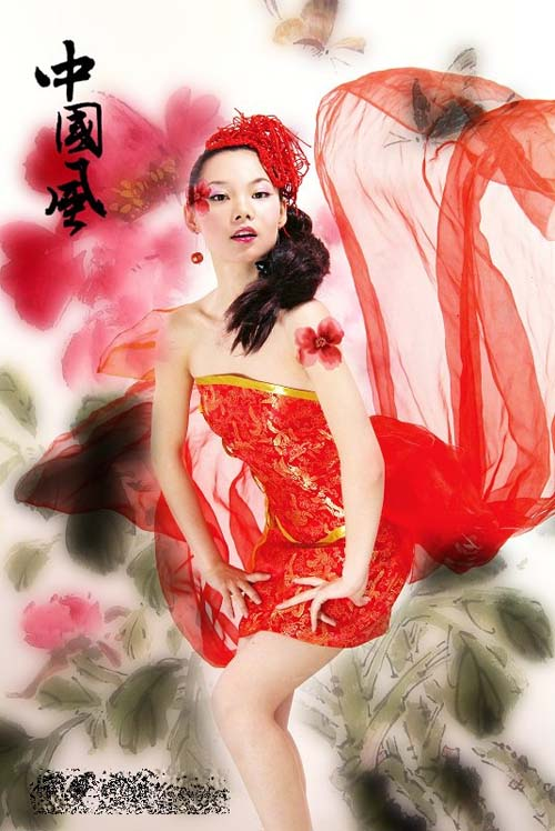 人画合一现代美女演绎中国风-搜狐女人