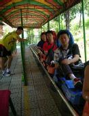 组图:羽毛球队红螺寺放松 教练们乘坐滑道下山