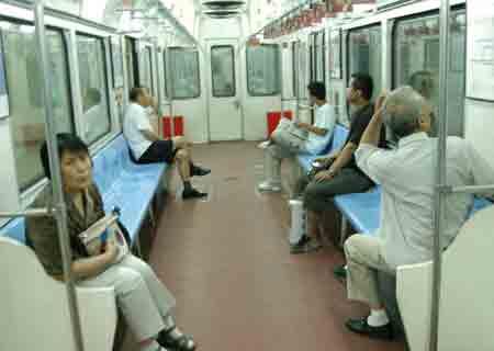 建国门2号线去往北京站方向的