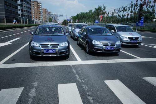 带有奥运图案的大众奥运专用车