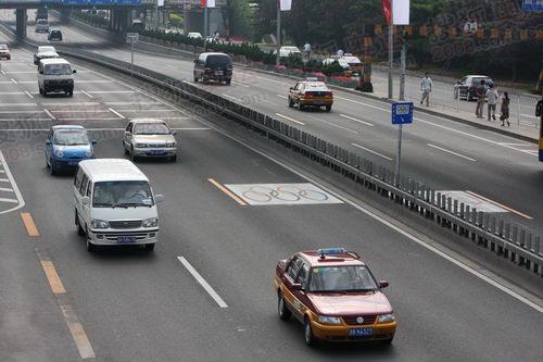 北四环奥运专用车道以开始限制普通车辆进入