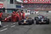 图文:[F1]德国大奖赛正赛 维修区的争夺