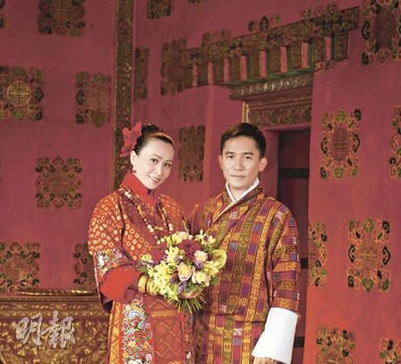 刘嘉玲与梁朝伟今日在不丹举行万众瞩目的世纪婚礼。