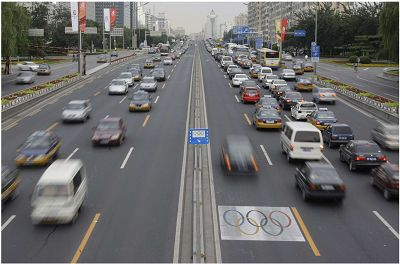 单双号限行首日,北京的交通状况焕然一新