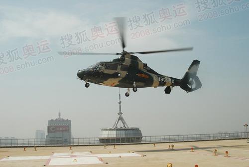 奥运期间需要急救的人员可以通过直升机,直接飞抵医院