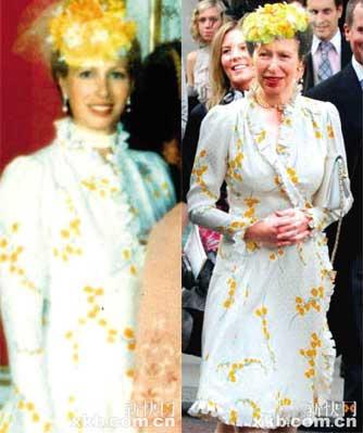 下月满58岁的安妮公主身材保持得不错,礼服穿在她身上跟27年前一样合身。