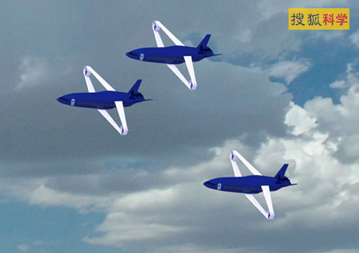 乔治亚州工学院小组设计的这种飞机,乘客将听不到发动机转动的声音,直到他们到达跑道的终点。因为此飞机将由电池提供电力。电动推进器只用于最初的启动,起飞之后就会折叠收藏在飞机中,从而减少摩擦力。这是一种同时使用前、后掠翼的错列复翼飞机。这种飞机的每个翼尖处都装有涵道螺旋桨。