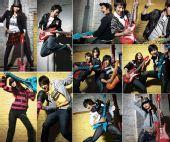 组图:SJ-M拍服装目录 动感玩转充气吉他