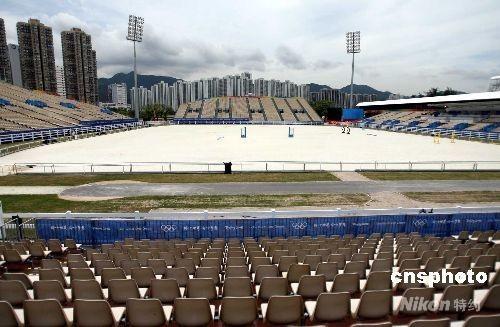 资料图:图为能容纳一万八千观众奥运马术沙田主赛场。 中新社发 洪少葵 摄