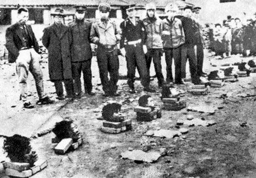 被砍头屠杀的朝鲜人