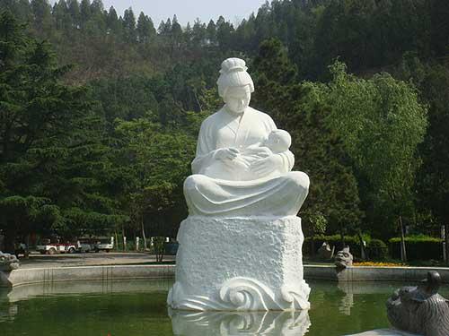 郑州名片:少林寺黄河母亲雕塑