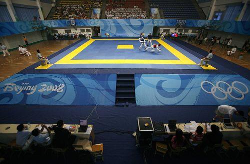 图文:跆拳道队进行奥运模拟赛 比赛模拟奥运会