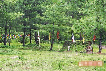 婚宴时草地上搭建的蒙古包已拆除,恢复射箭场风貌