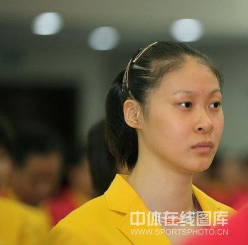 图文:中国奥运代表团誓师会 赵蕊蕊在誓师会上