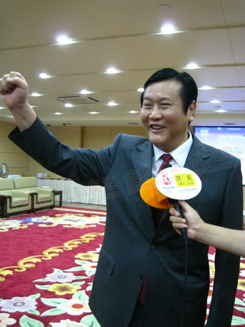 市长表示为中国加油