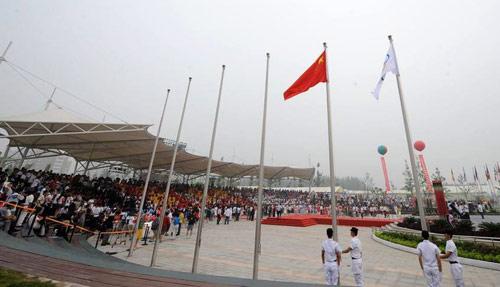 五星红旗成为奥运村上空升起的第一面国旗