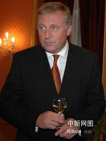 资料图片:捷克总理托波拉内克。(黄频摄影)