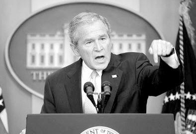 布什在新闻发布会上