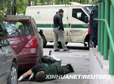 7月29日,两名运钞员在俄罗斯莫斯科的一家银行附近遇害。莫斯科当天上午发生一起武装抢劫运钞车案件,造成2人死亡、3人受伤,被抢现金数目不详。 新华社/路透