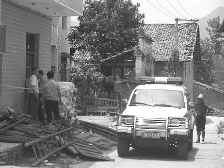 案发现场已被警方戒严。