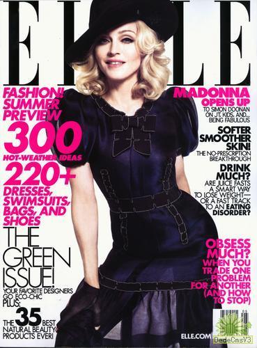 今年4月麦当娜上杂志封面