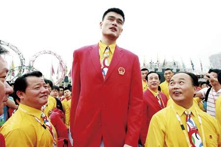 姚明在一片呼声中最有可能成为本届北京奥运会火炬手代表