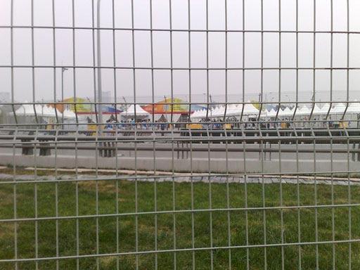 图文:奥运开幕式彩排在即 体育场远景