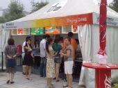 图文:奥运会开幕式彩排 鸟巢边上的餐饮零售点