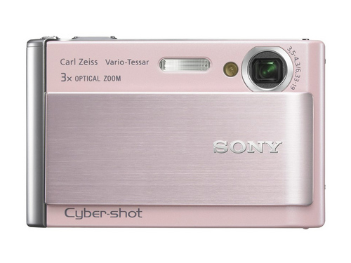 索尼卡片机T70粉色版 促销送2GB棒相机包