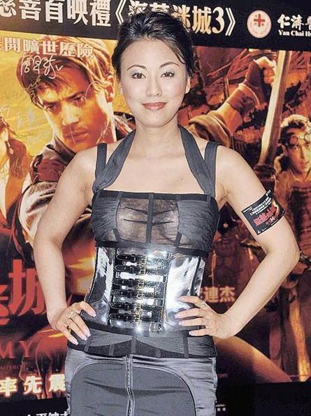 陈雅伦大病初愈,前晚以一身10万元性感透视装出席《盗墓迷城3》首映礼,十分抢镜。
